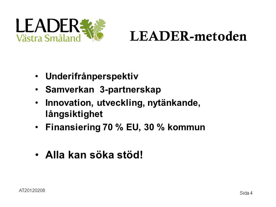 LEADER-metoden Alla kan söka stöd! Underifrånperspektiv