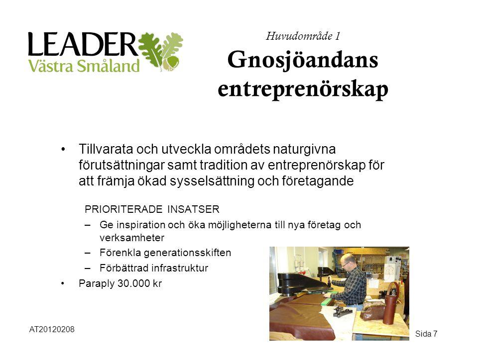 Huvudområde 1 Gnosjöandans entreprenörskap