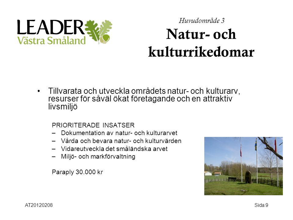Huvudområde 3 Natur- och kulturrikedomar