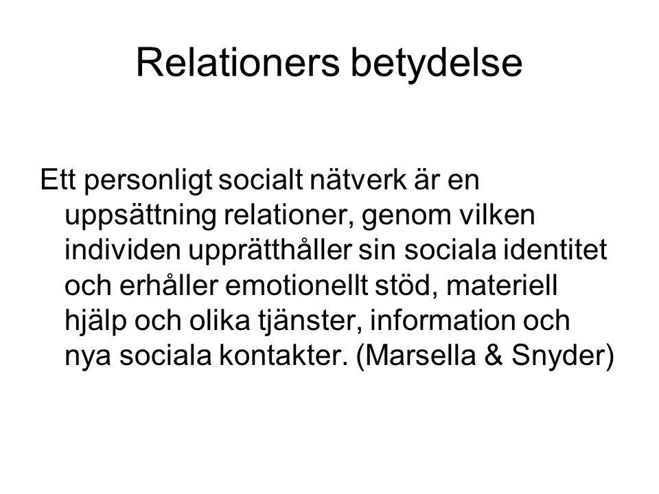 Relationers betydelse