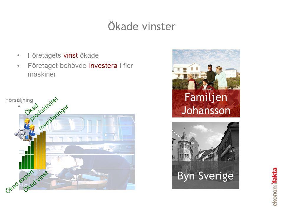 Ökade vinster Familjen Johansson Byn Sverige Företagets vinst ökade