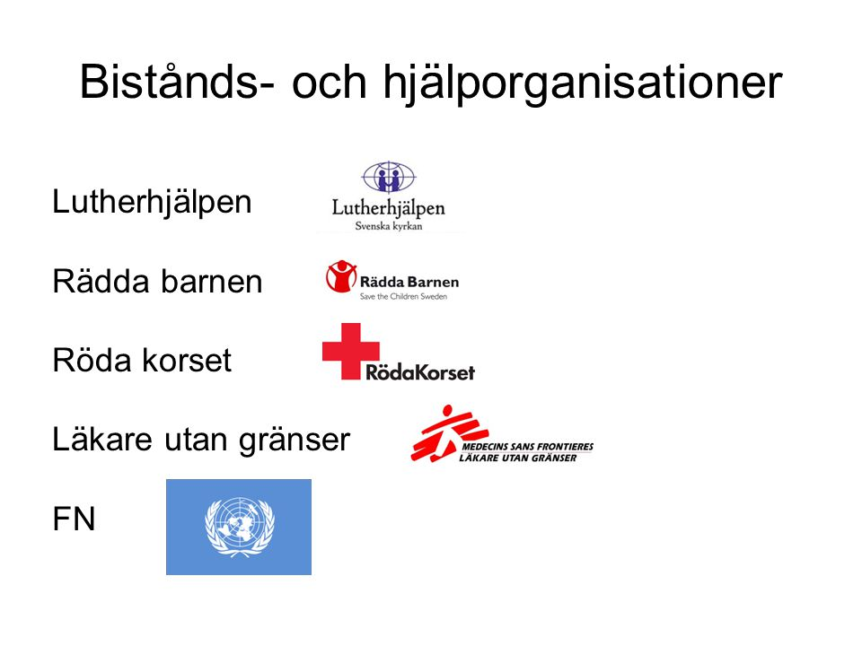 Bistånds- och hjälporganisationer