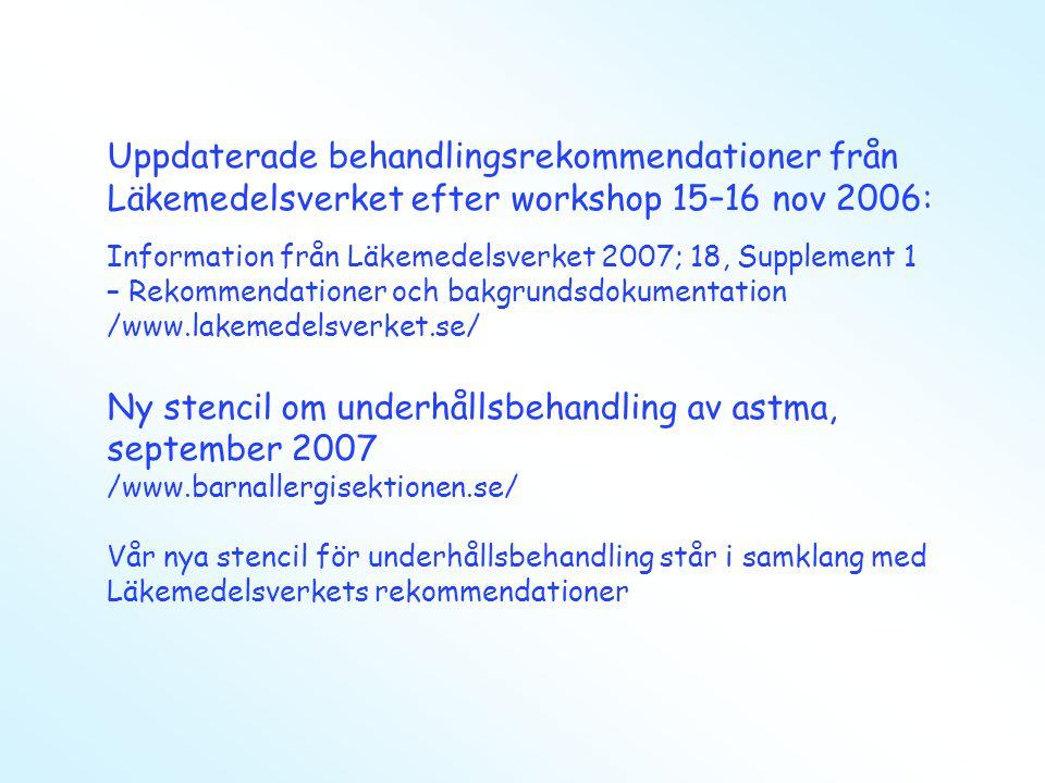 Ny stencil om underhållsbehandling av astma, september 2007