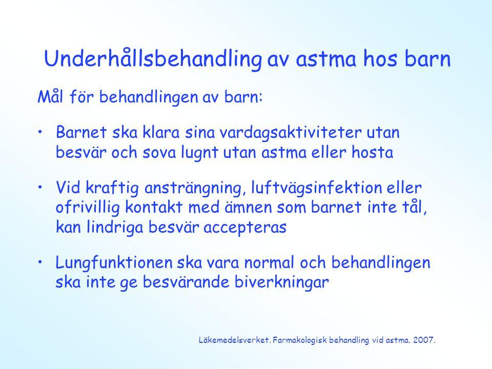Underhållsbehandling av astma hos barn