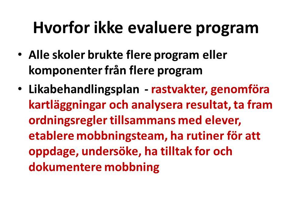 Hvorfor ikke evaluere program