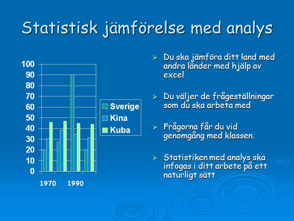 Statistisk jämförelse med analys