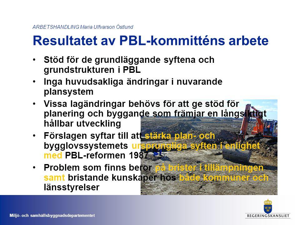 Stöd för de grundläggande syftena och grundstrukturen i PBL
