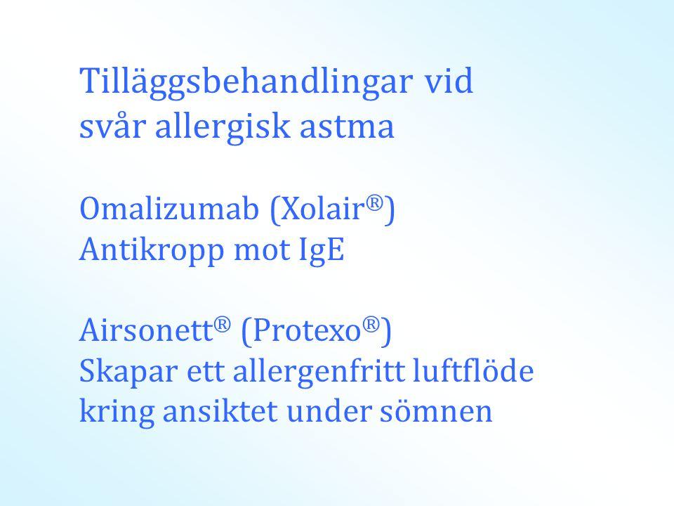 Tilläggsbehandlingar vid svår allergisk astma