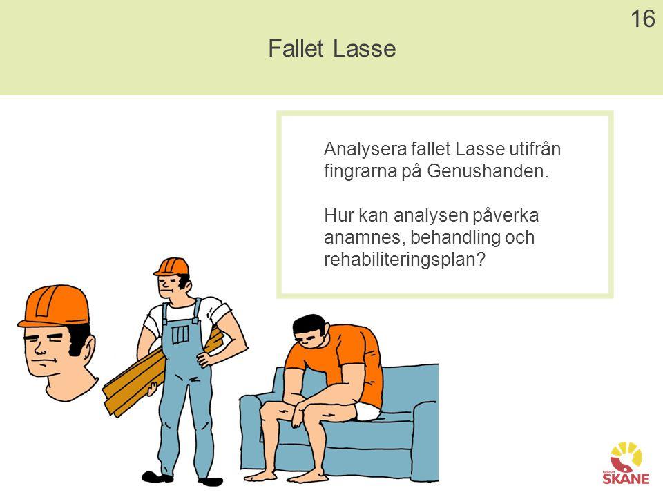16 Fallet Lasse. Analysera fallet Lasse utifrån fingrarna på Genushanden.