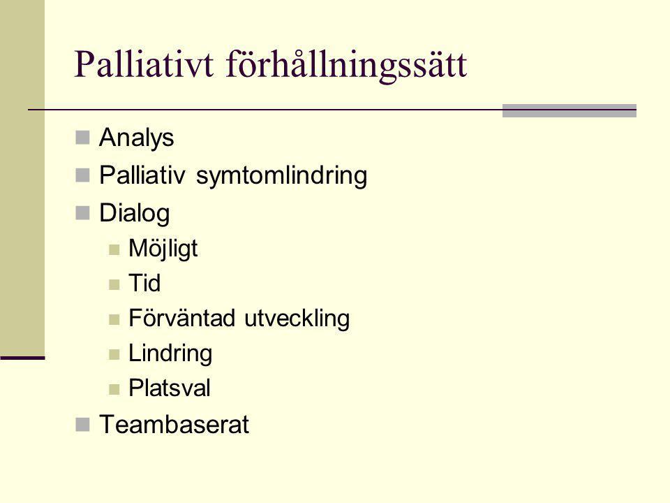 Palliativt förhållningssätt
