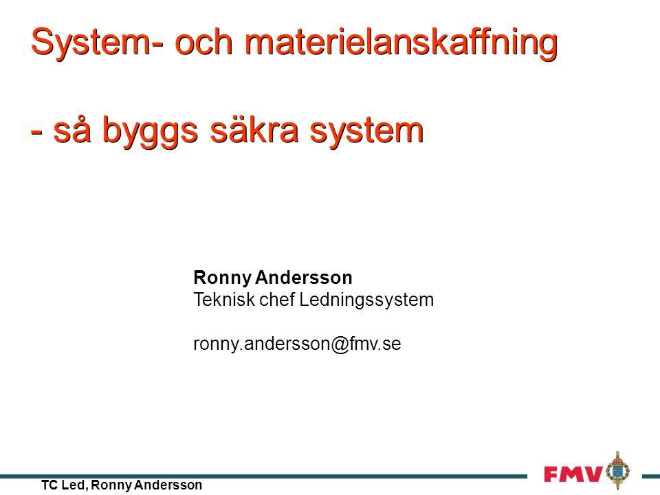 System- och materielanskaffning - så byggs säkra system