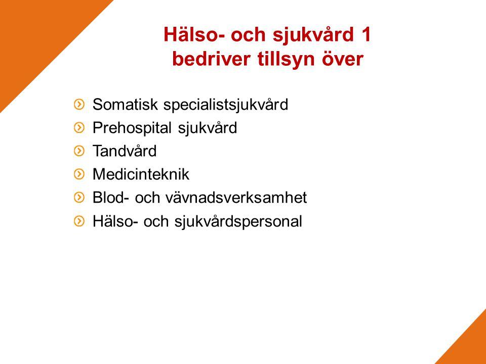 Hälso- och sjukvård 1 bedriver tillsyn över