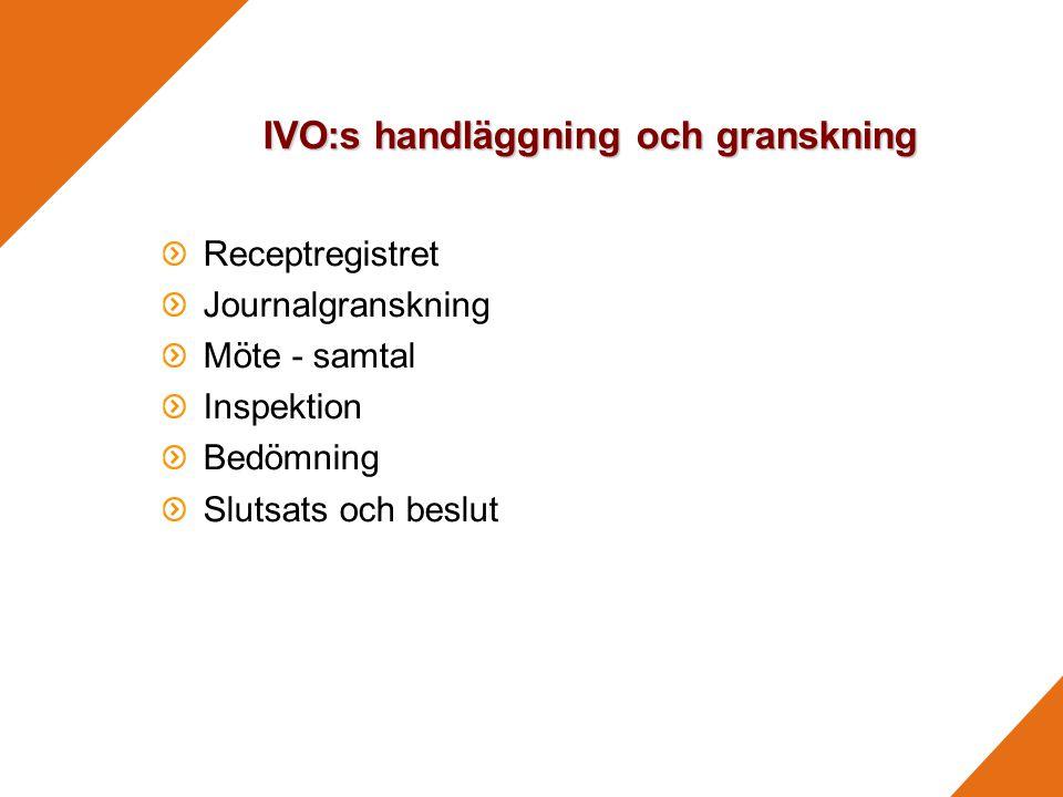 IVO:s handläggning och granskning