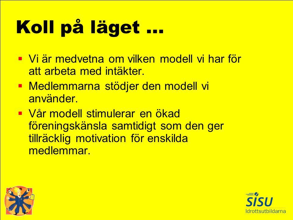 Koll på läget ... Vi är medvetna om vilken modell vi har för att arbeta med intäkter. Medlemmarna stödjer den modell vi använder.