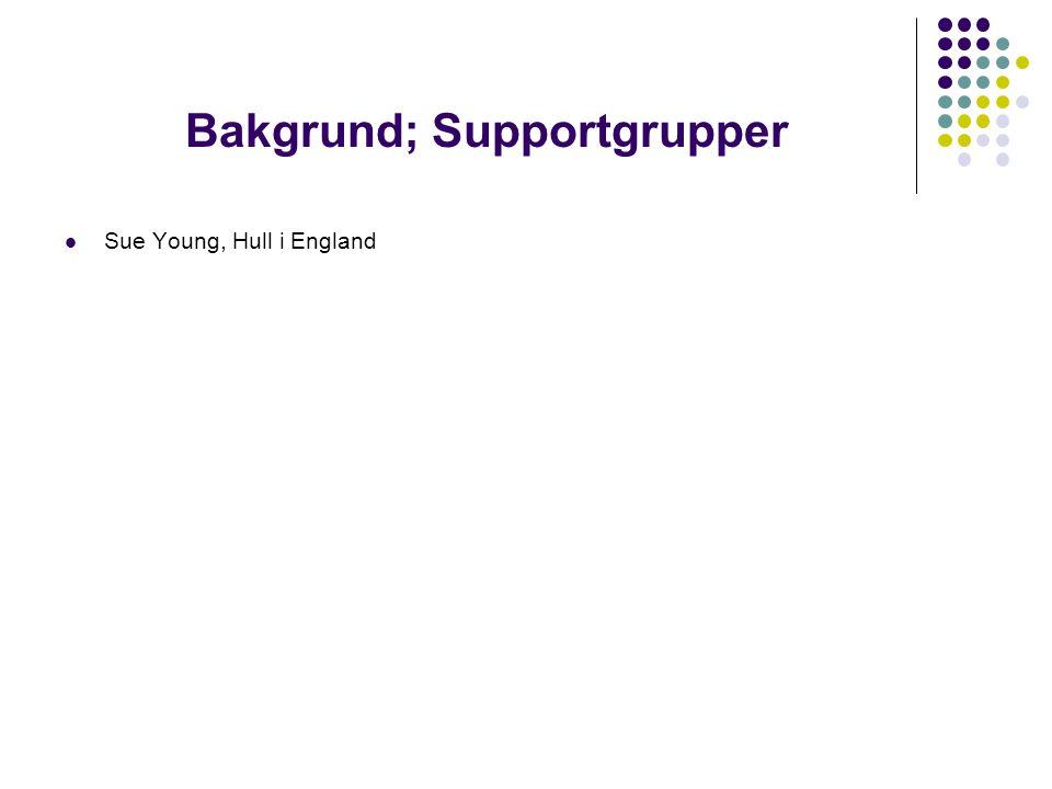 Bakgrund; Supportgrupper