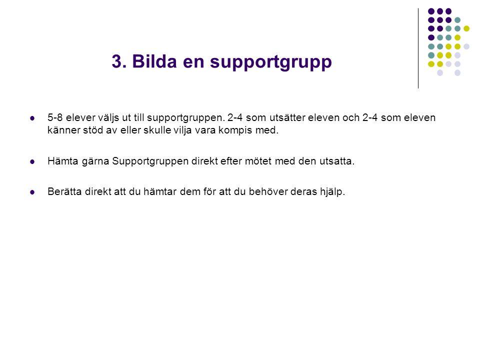 3. Bilda en supportgrupp