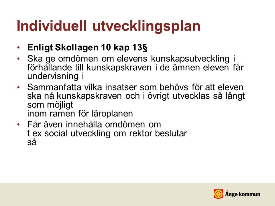 Individuell utvecklingsplan