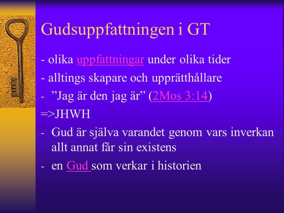 Gudsuppfattningen i GT