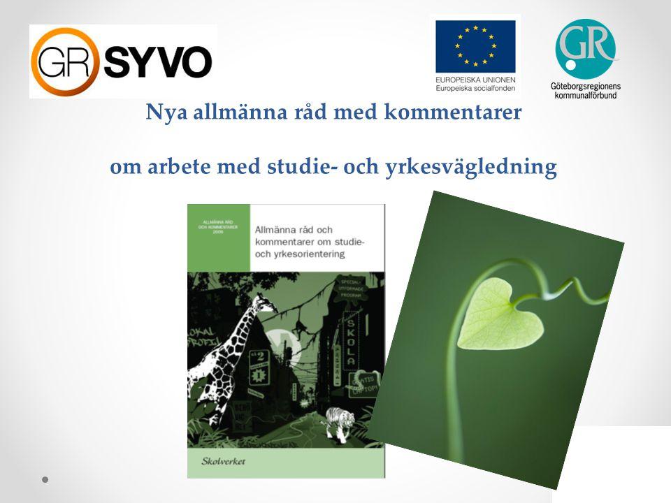 Nya allmänna råd med kommentarer om arbete med studie- och yrkesvägledning
