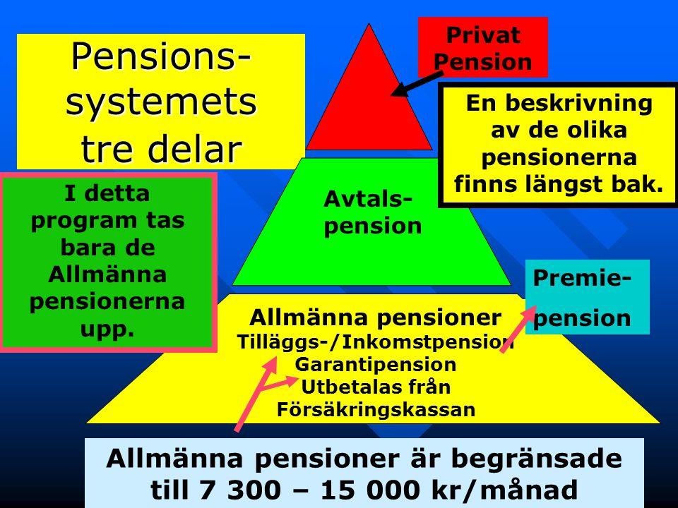 Pensions-systemets tre delar