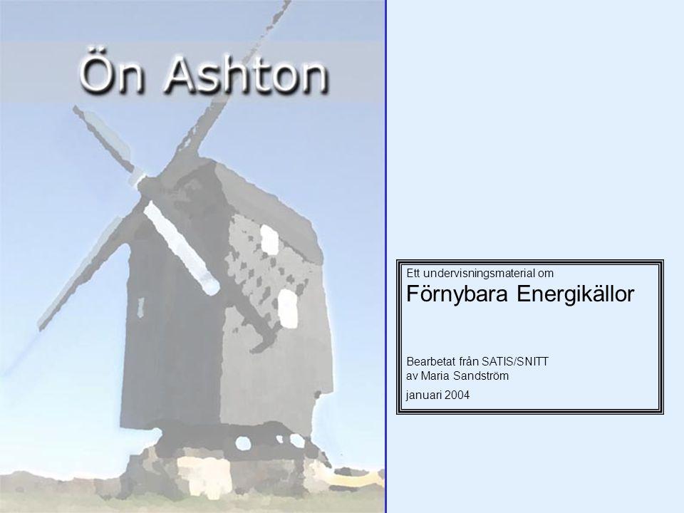 Ett undervisningsmaterial om Förnybara Energikällor