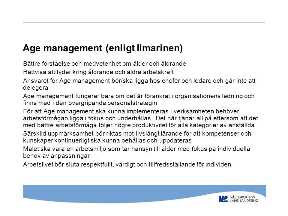 Age management (enligt Ilmarinen)