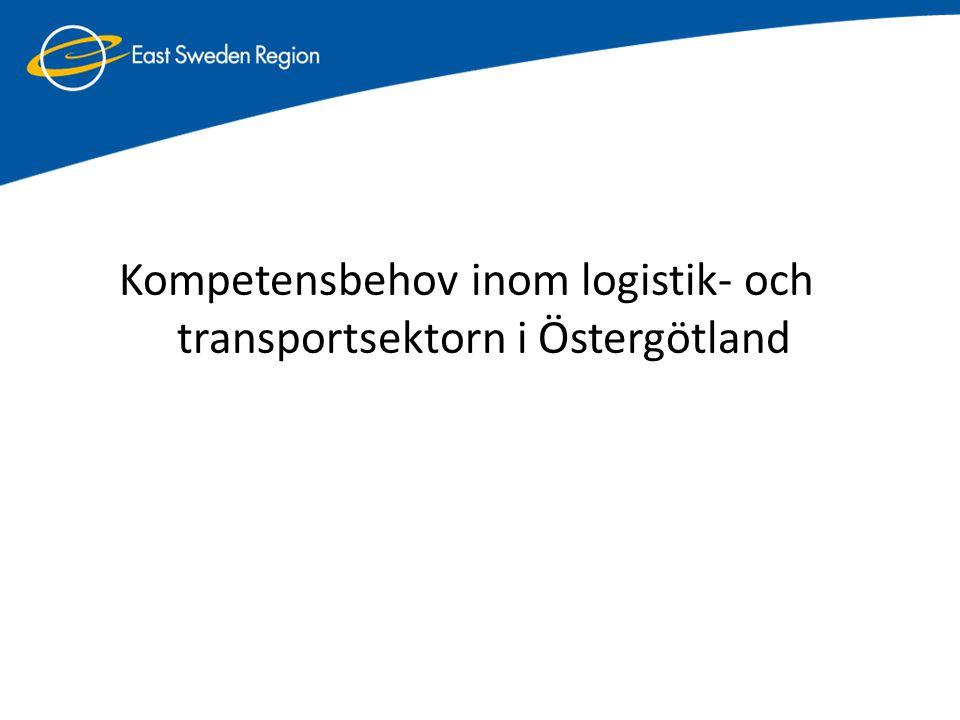 Kompetensbehov inom logistik- och transportsektorn i Östergötland