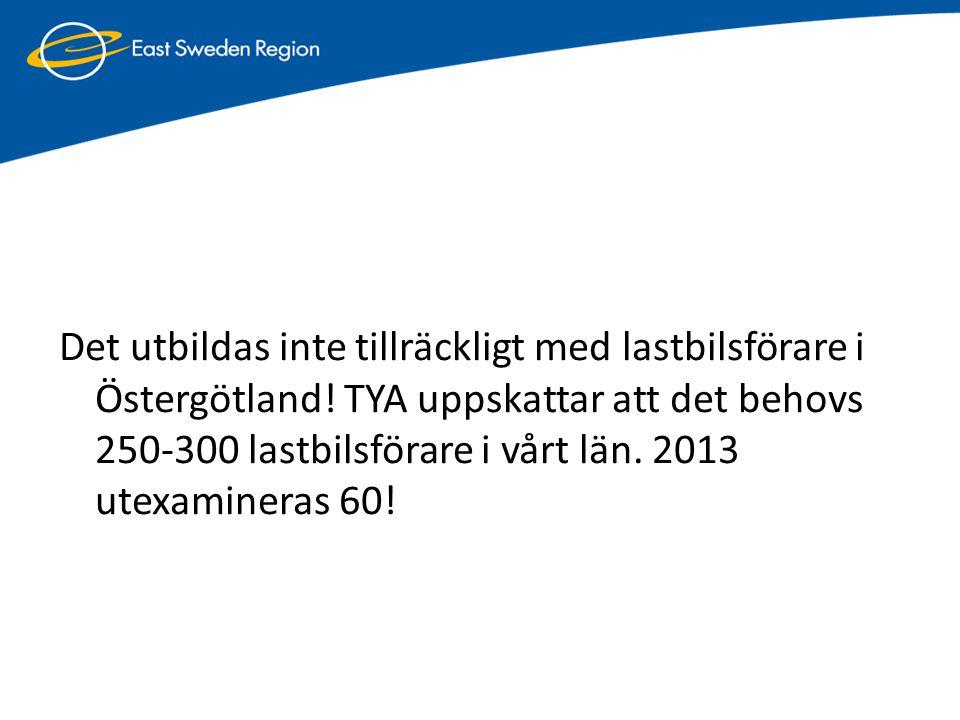Det utbildas inte tillräckligt med lastbilsförare i Östergötland