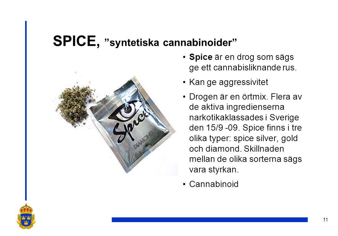SPICE, syntetiska cannabinoider