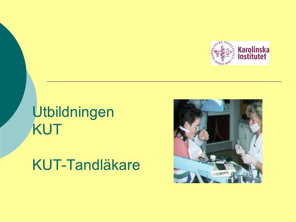Utbildningen KUT KUT-Tandläkare