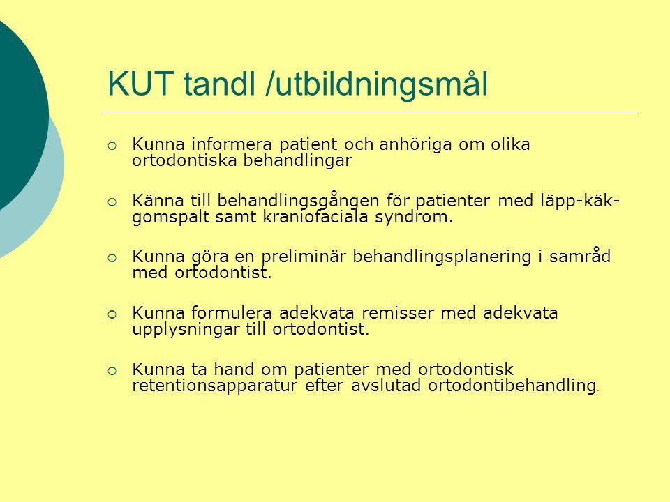 KUT tandl /utbildningsmål