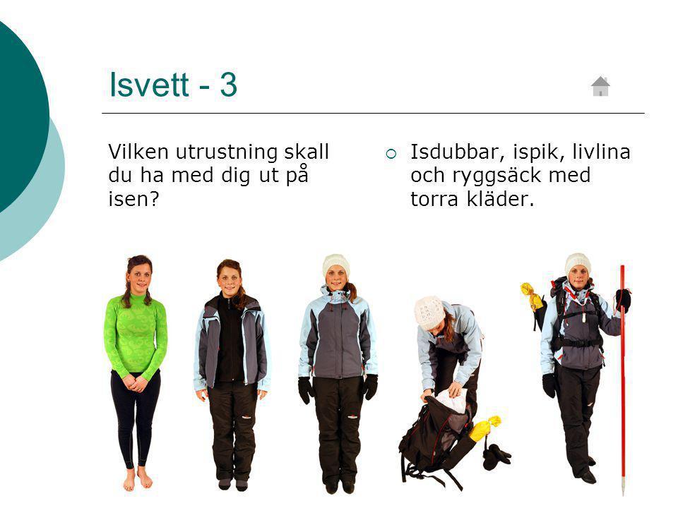 Isvett - 3 Vilken utrustning skall du ha med dig ut på isen