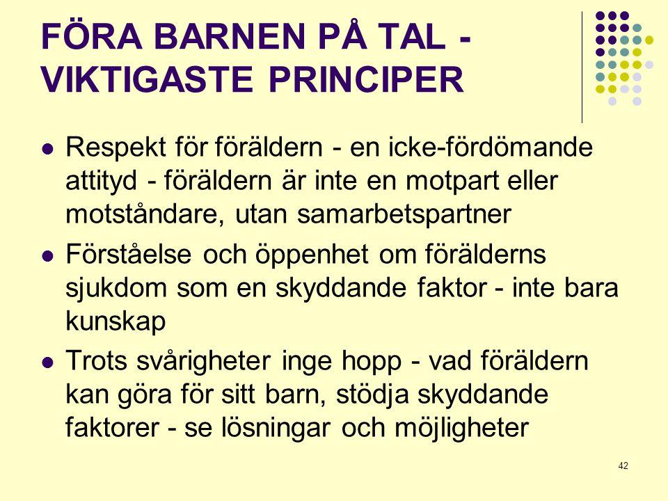 FÖRA BARNEN PÅ TAL - VIKTIGASTE PRINCIPER