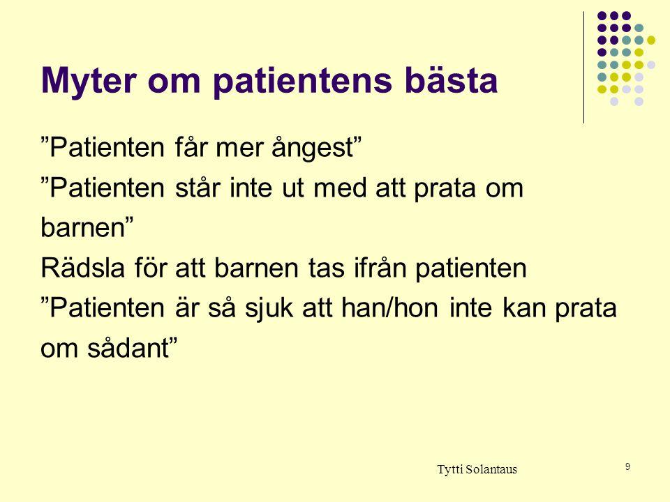 Myter om patientens bästa