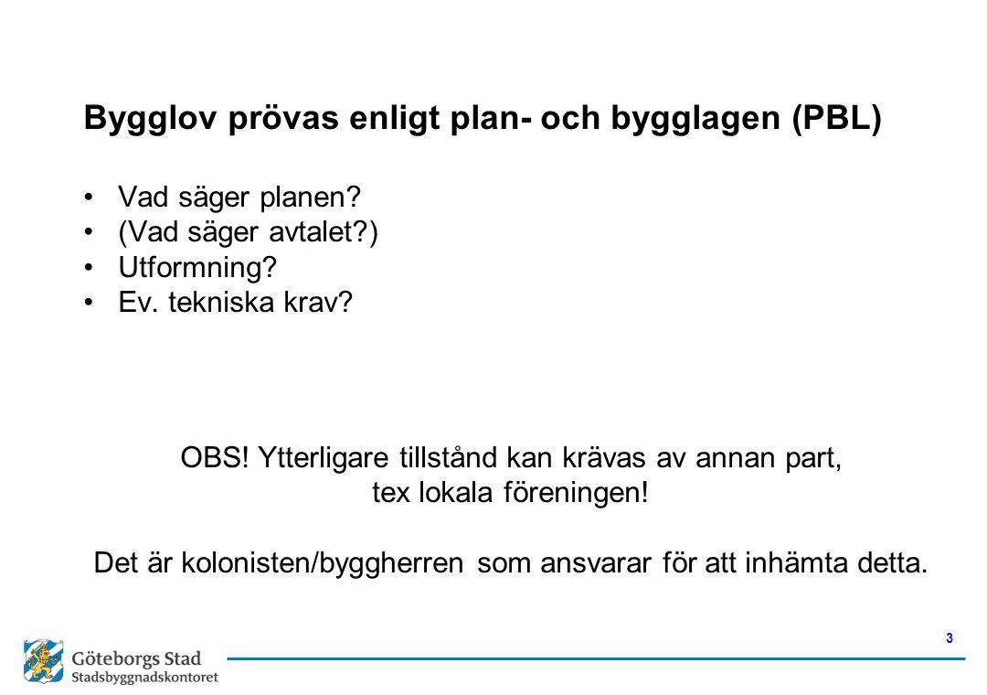 Bygglov prövas enligt plan- och bygglagen (PBL)