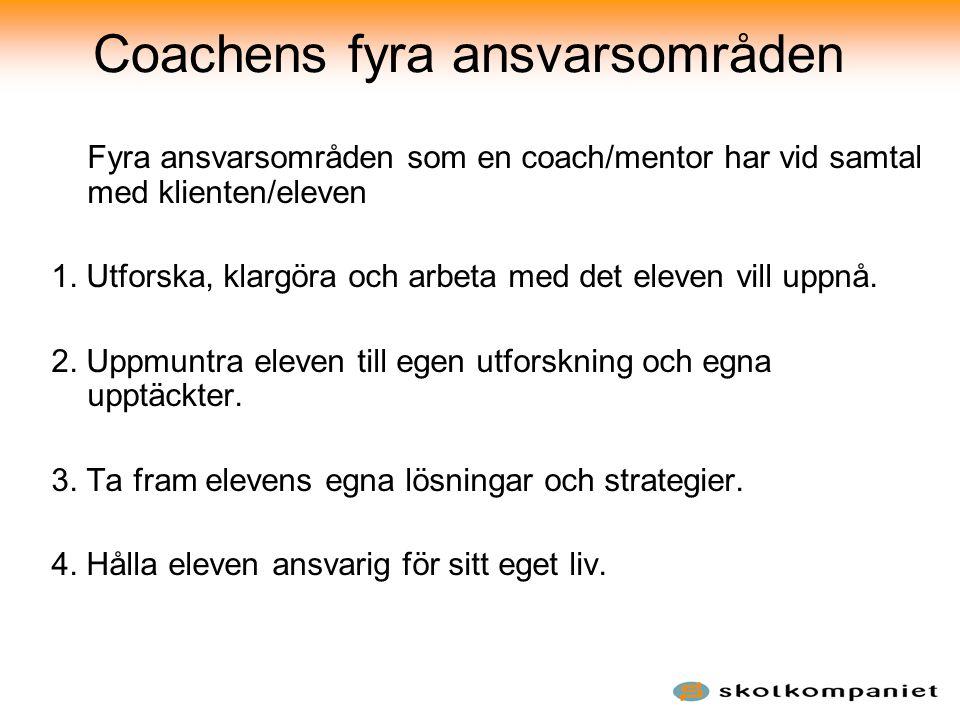 Coachens fyra ansvarsområden