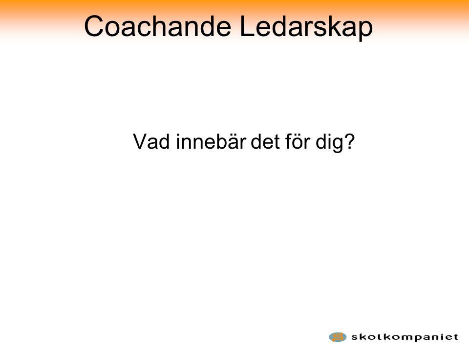 Coachande Ledarskap Vad innebär det för dig