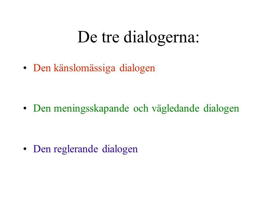 De tre dialogerna: Den känslomässiga dialogen