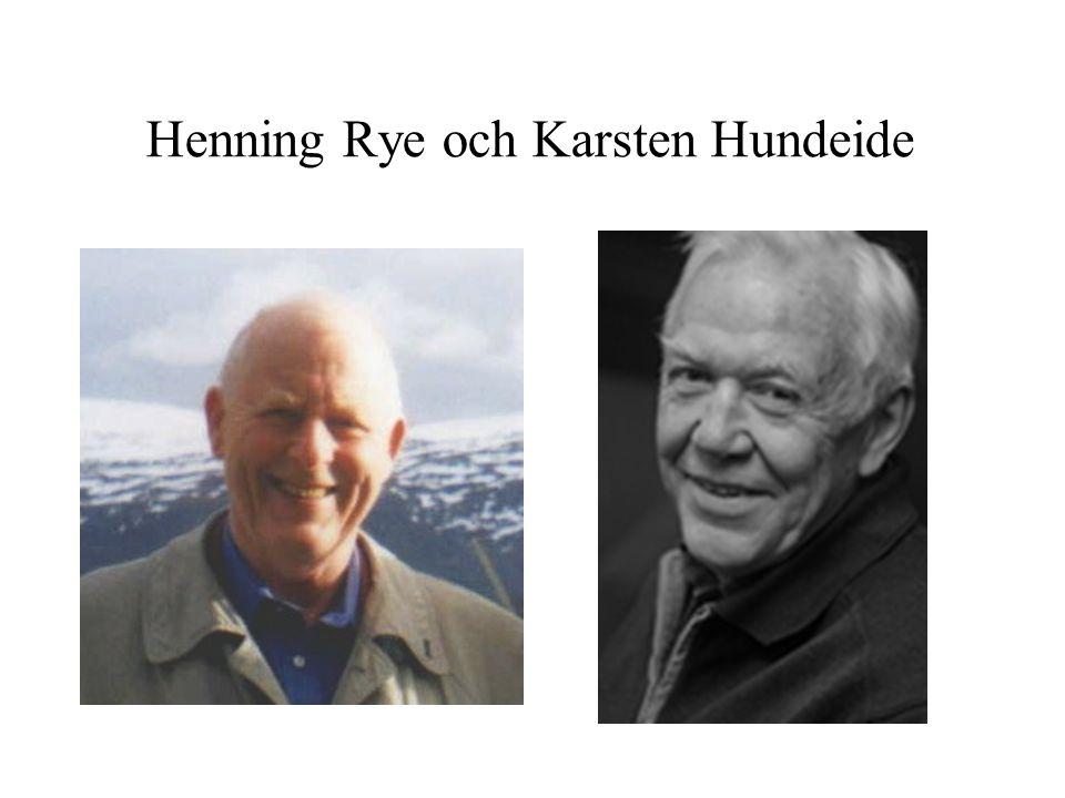 Henning Rye och Karsten Hundeide