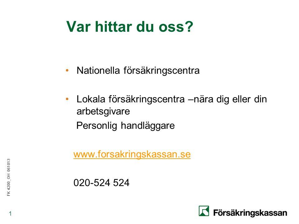 Var hittar du oss Nationella försäkringscentra
