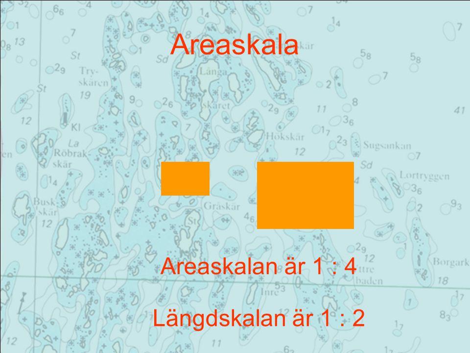Areaskala Areaskalan är 1 : 4 Längdskalan är 1 : 2