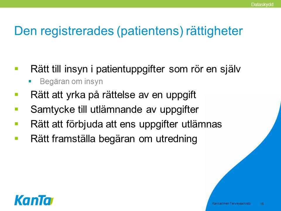 Den registrerades (patientens) rättigheter