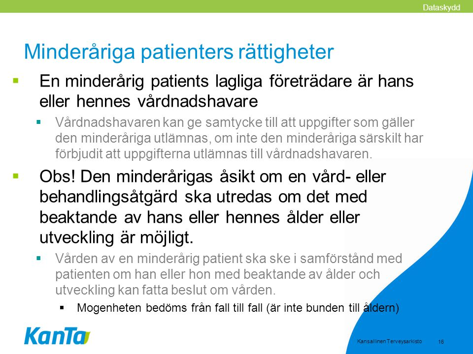 Minderåriga patienters rättigheter