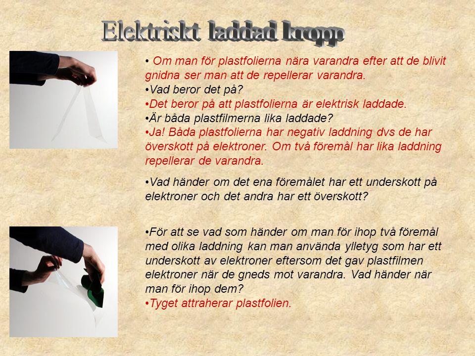 Elektriskt laddad kropp