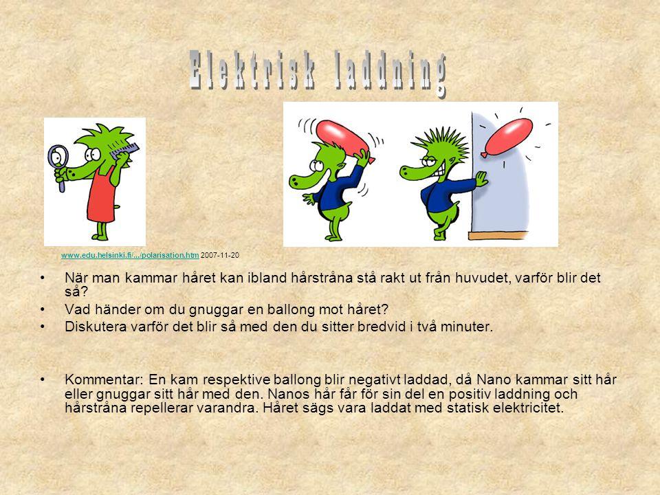 Elektrisk laddning www.edu.helsinki.fi/.../polarisation.htm 2007-11-20.
