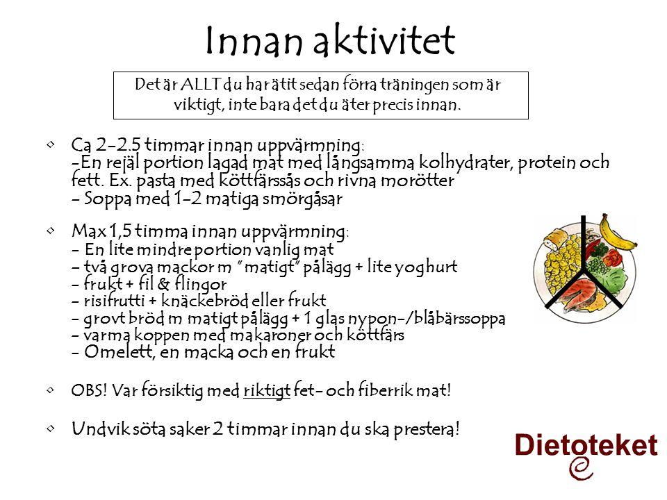 Innan aktivitet Dietoteket