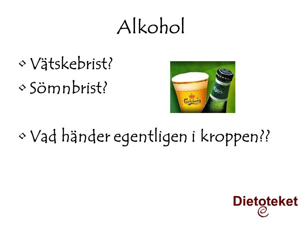 Alkohol Vätskebrist Sömnbrist Vad händer egentligen i kroppen