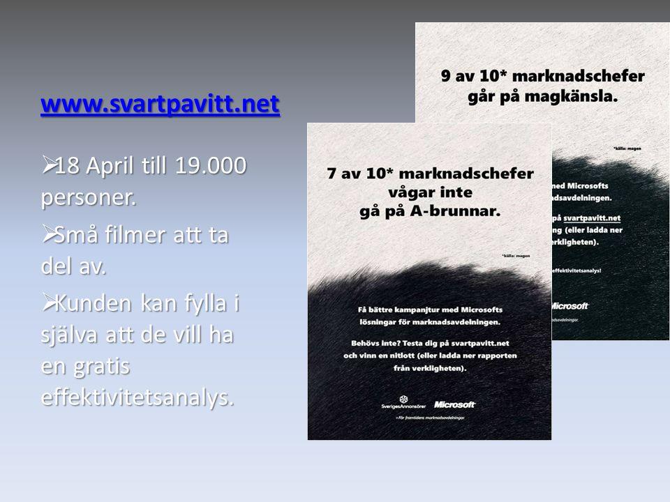 www.svartpavitt.net 18 April till 19.000 personer.