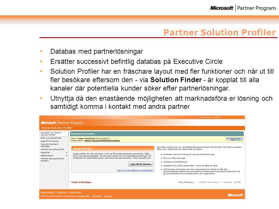 Partner Solution Profiler