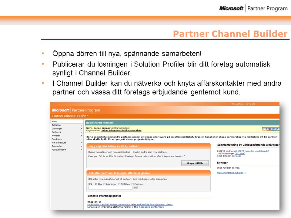 Partner Channel Builder